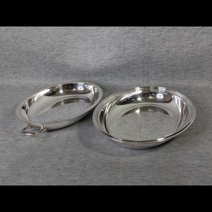 Lot of 2 vintage silverplated serving dishes/tray